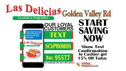 Loyal Customers Save Now – Las Delicias Golden Valley Road